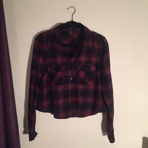 NWOT Slightly Cropped Forever 21 Flannel